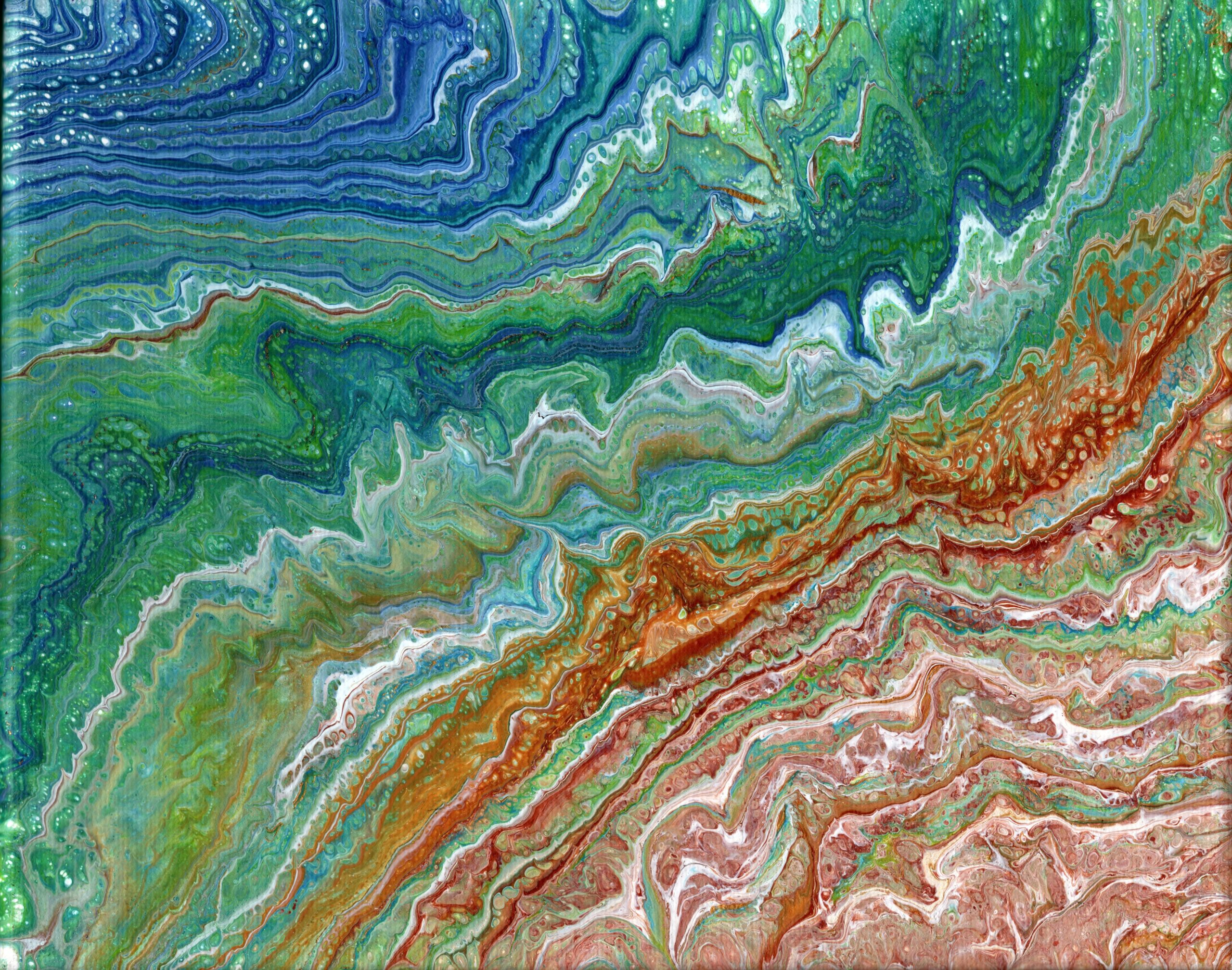 Abstract, Seascape, Acrylic, Canvas, Irish Artist, Cavan Artist, Maria Jordan-O'Reilly,