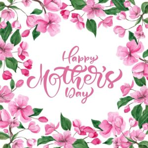 Mothers Day Card, Pink Floral