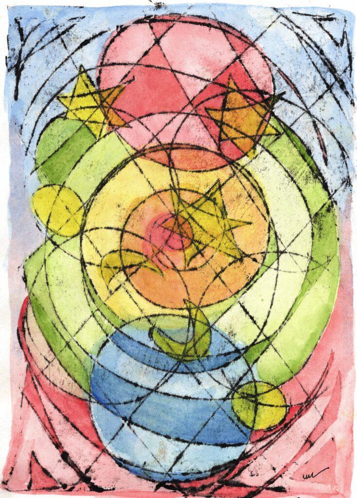 Watercolour, Mixed media, abstract, Irish Artist